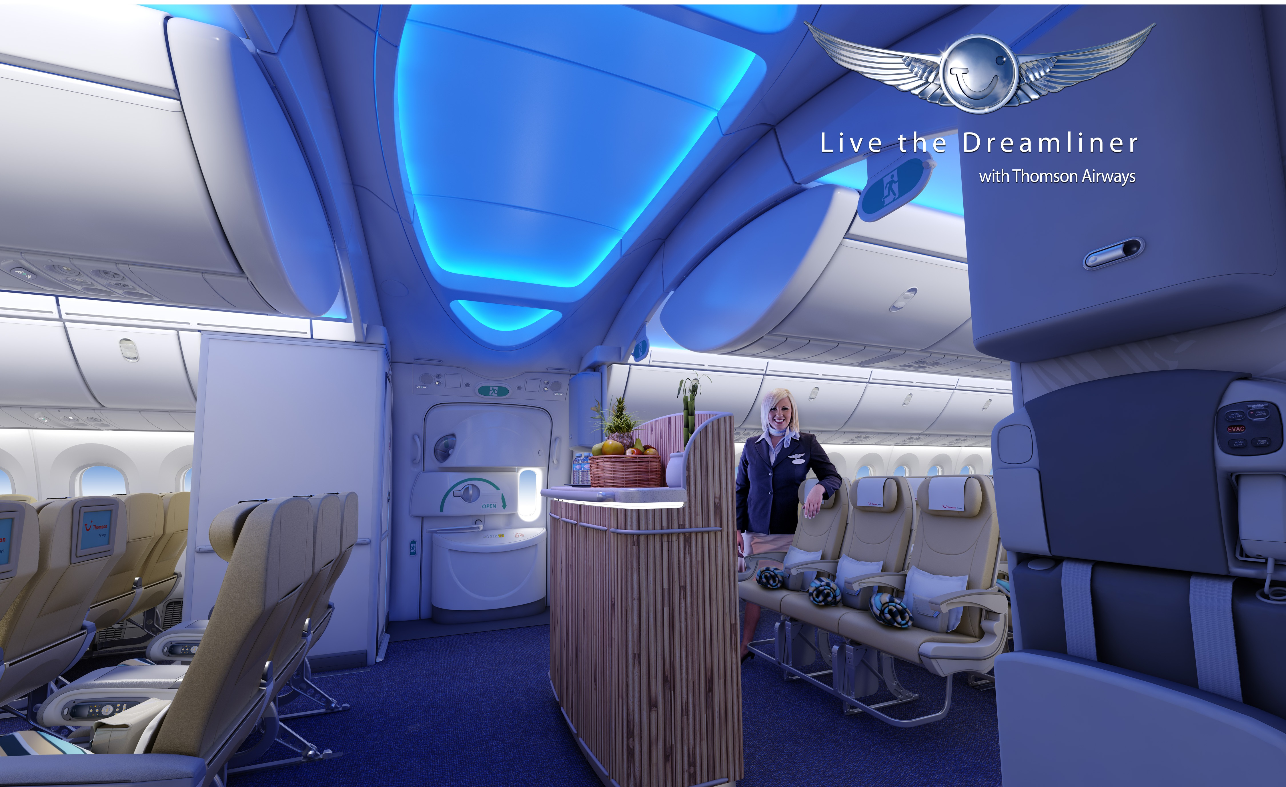 Dreamliner Jets In To Farnborough Airshow
